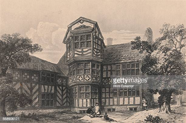 Gawsworth Old Hall Cheshire 1915 Plate XLVII from Old English Mansions by Charles Holme [The Studio Ltd London New York 1915]