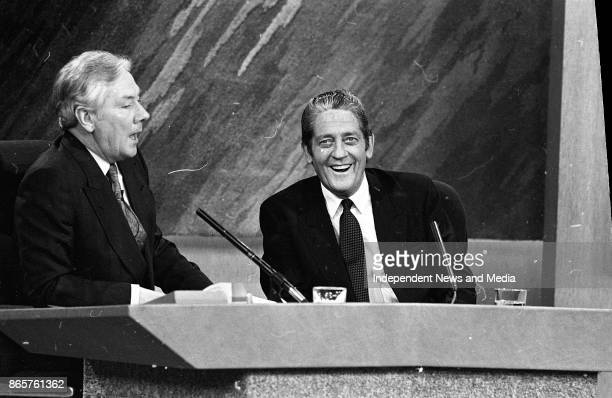Gay Byrne and Brian Lennihan on the Late Late Show March 30 1990
