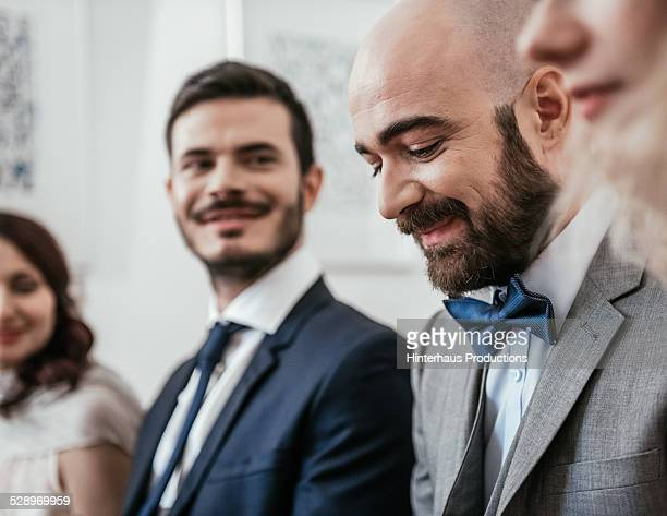 Gay Couple During Wedding Ceremony