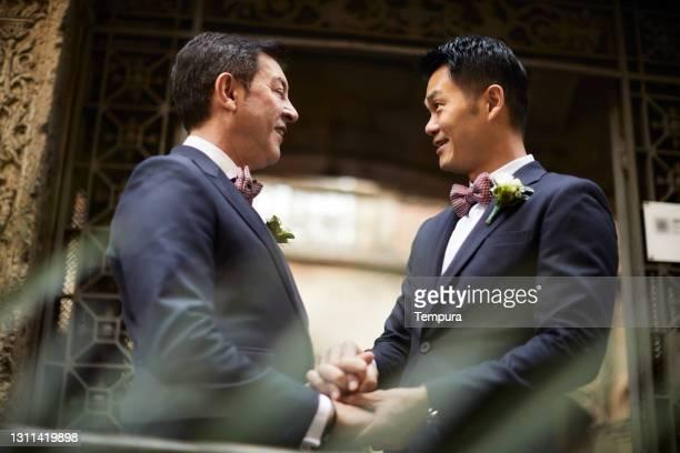 Gay couple engagement portraits