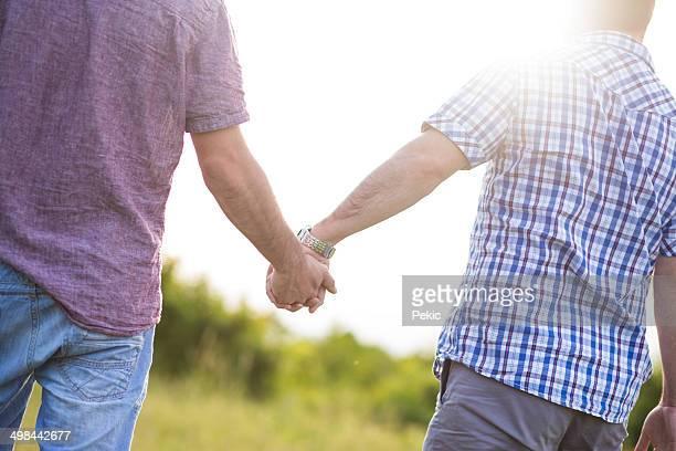 Gay couple enjoying outdoor