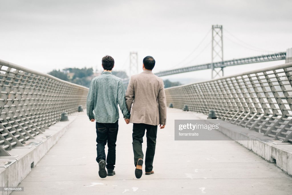 Gay Couple Hanging out in San Francisco : Stock Photo