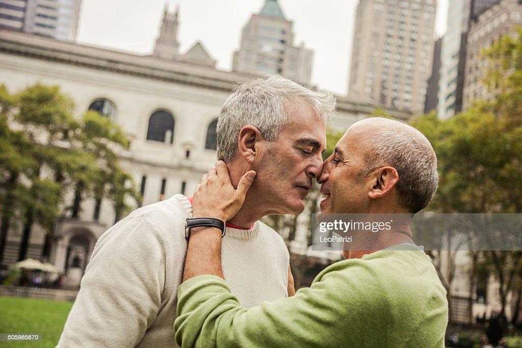 During christmas time Gay Couple