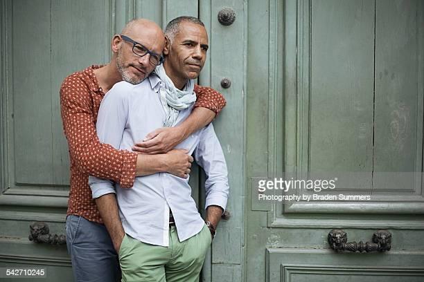 Gay couple in Paris.