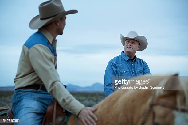 Gay couple in Texas on horses
