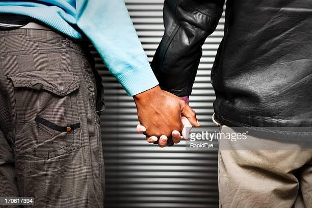 Gay couple, interracial