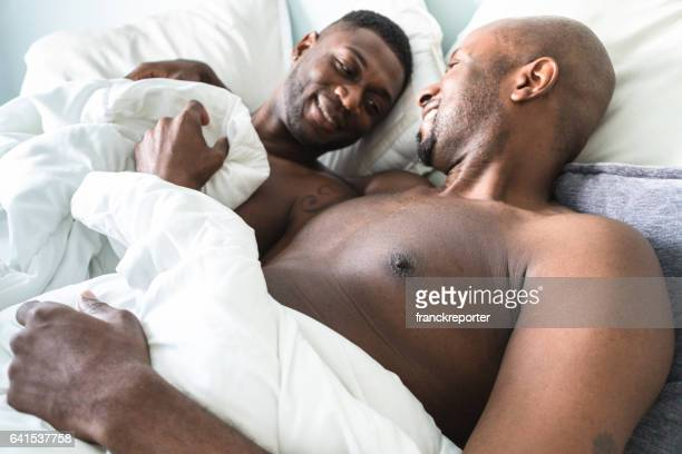 Gay couple sleeping together