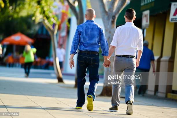 Gay Couple Walking holding hands