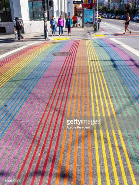 gay district of castro in san francisco - castro district stock pictures, royalty-free photos & images