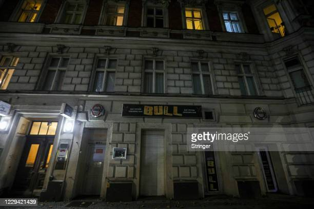 Gay fettish bar stands closed in the city center on the first day of a four-week semi-lockdown during the second wave of the coronavirus pandemic on...