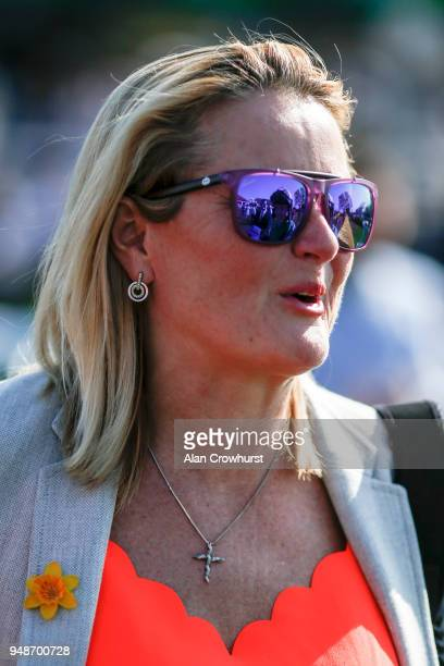 Gay Kellaway poses at Newmarket racecourse on April 19 2018 in Newmarket England