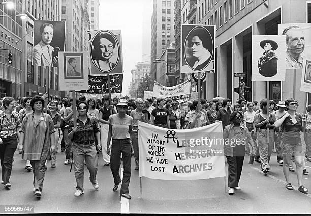 Gay Lesbian Pride Parade circa 1980 in New York City