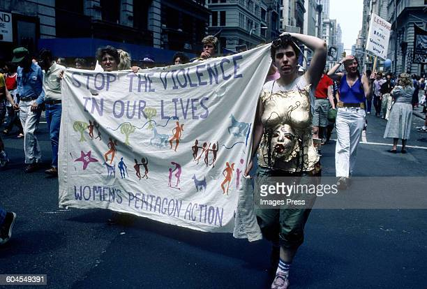 Gay Lesbian Pride Parade circa 1983 in New York City