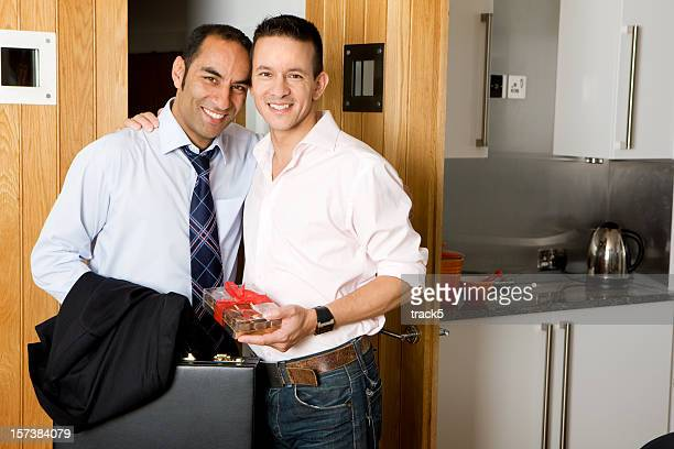 gay lifestyle: best of friends - handsome pakistani men stock photos and pictures