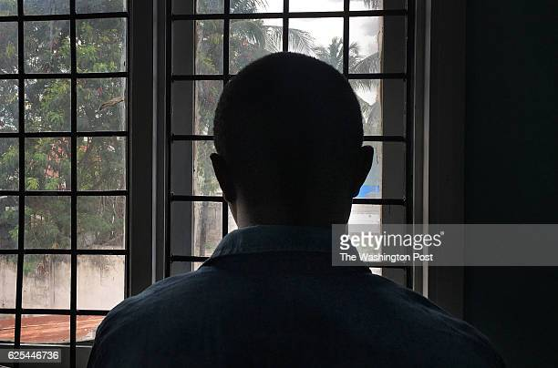 Dar es Salaam Tanzania November 16 2016 A gay man with HIV stands in a clinic in Dar es Salaam Tanzania Due to the government's crackdown on the gay...