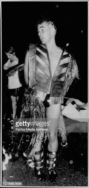 Gay Mardi Gras - Soaked and freezing after being caught in the rain which washed out the fireworks display. February 22, 1986. .