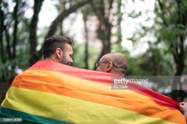 gay married couple enjoying a day at park - community engagement stock pictures, royalty-free photos & images