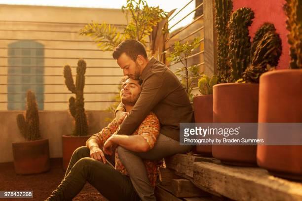 Gay men kissing in Mexico