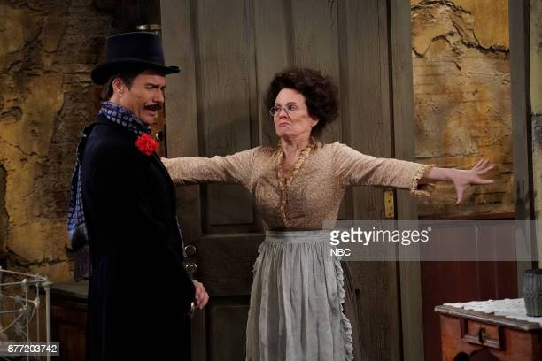 WILL GRACE 'A Gay Olde Christmas' Episode 109 Pictured Eric McCormack as Billem Van Williams Megan Mullally as Karolyn O'Malley