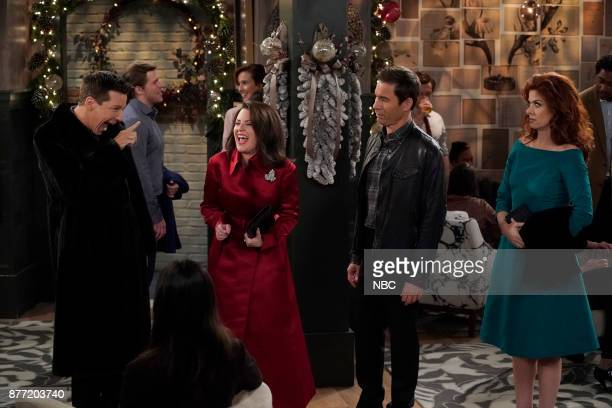 WILL GRACE 'A Gay Olde Christmas' Episode 109 Pictured Sean Hayes as Jack McFarland Megan Mullally as Karen Walker Eric McCormack as Will Truman...