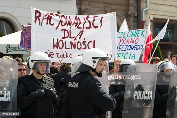 Gay-parade in Krakau