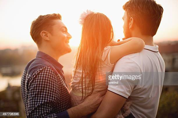 Gay padre con hija