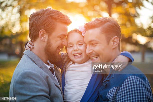 gay parents with daughter - gay rights stock pictures, royalty-free photos & images