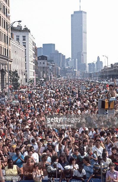 Gay Pride demo fills West St in Greenwich Village New York New York June 26 1983