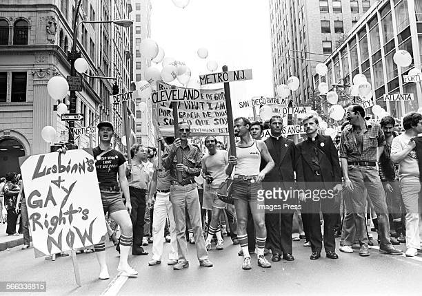 Gay Pride demonstration circa 1980 in New York City