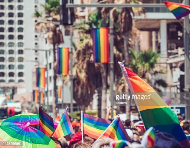 gay pride parade in tel aviv - ゲイ・パレード ストックフォトと画像