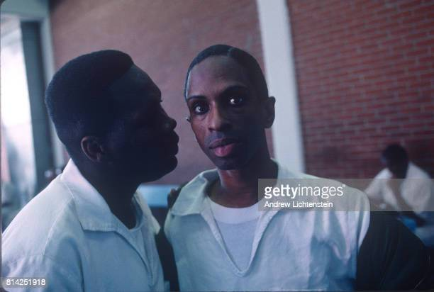 Gay prisoners are held in a protective custody wing at the Coffield Unit on March 15 1998 in Tennessee Colony Texas These administrative segregation...
