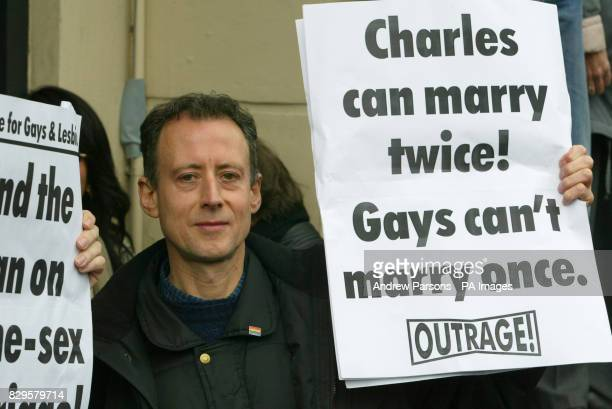 Gay rights activist Peter Patchell makes his opinion known