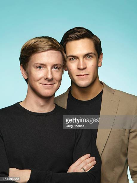 Gay rights advocates Chris Hughes and Sean Eldridge are photographed for the April 11 issue of the Advocate Magazine in New York City