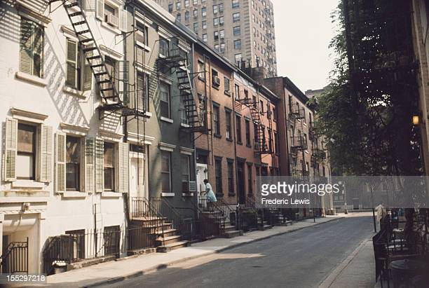 Gay Street in Greenwich Village New York City circa 1960 It runs between Christopher Street and Waverly Place Photo by R Kenoza