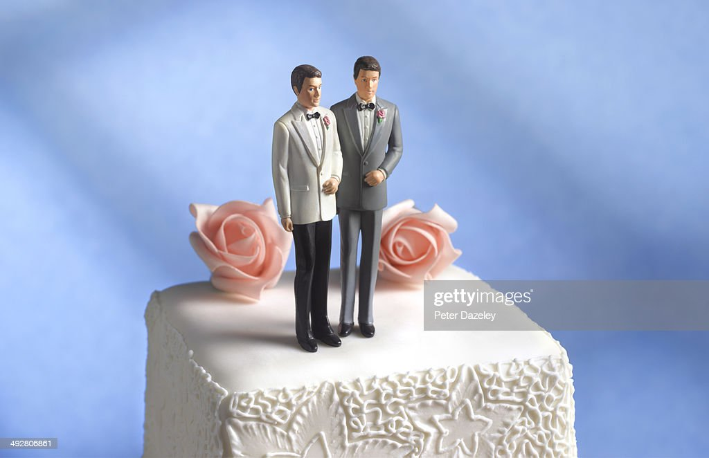 Gay wedding cake figurine : Stock Photo