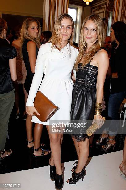 Gaya Repossi and Eugenie Niarchos at the Valentino Front Row PFW Haute Couture F/W 2011 show as part of Paris HauteCouture Fashion Week Fall/Winter...