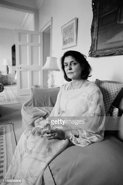 Gayatri Devi , third Maharani consort of Jaipur, UK, 27th April 1984.