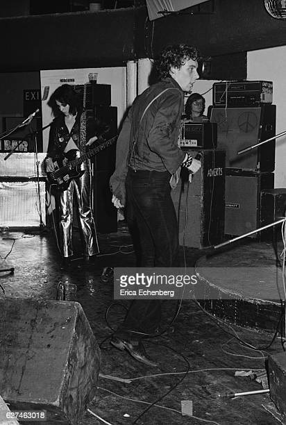 Gaye Advert and TV Smith of English punk band The Adverts performs on stage London United Kingdom 1977