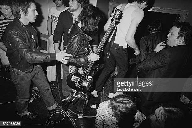 Gaye Advert of English punk band The Adverts comes off stage London United Kingdom 1977