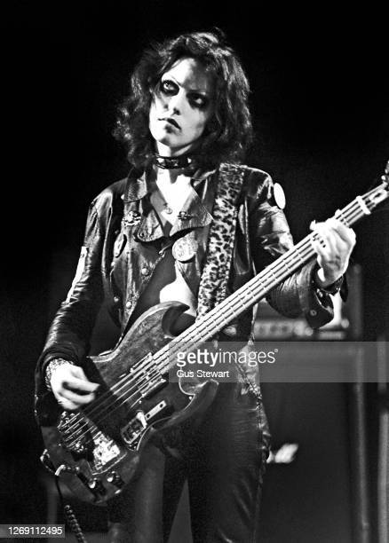 Gaye Advert of The Adverts performs on stage at the Music Machine, Camden, London, England, on April 24, 1978.