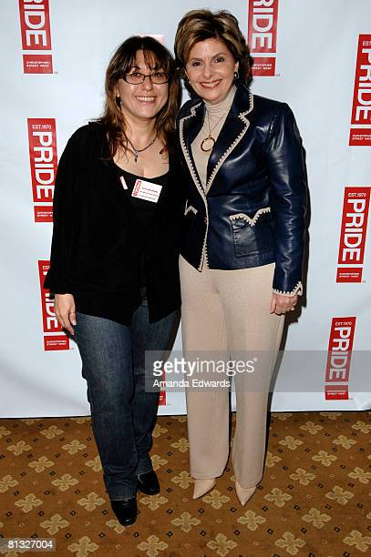 Gaye Ann Bruno and Gloria Allred attend the Los Angeles LGBT Pride Honorees Brunch on June 1 2008 in Los Angeles California