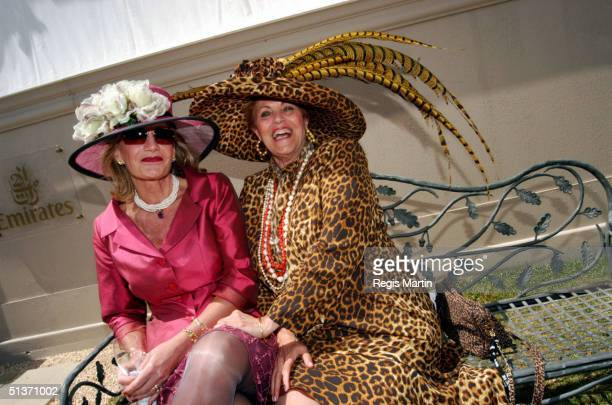 Gaye Pannusz and Lillian Frank at the Melbourne Cup 2002