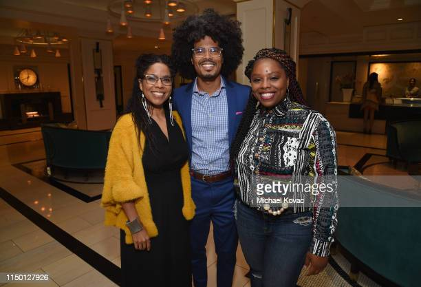 Gaye Theresa Johnson Charles HF Davis III and Patrisse Cullors attend the Los Angeles premiere of Toni Morrison The Pieces I Am on June 14 2019 in...