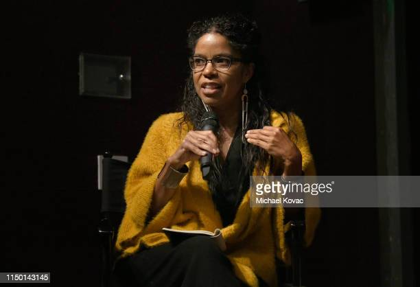 Gaye Theresa Johnson participates in a panel discussion after the Los Angeles premiere of Toni Morrison The Pieces I Am on June 14 2019 in West...