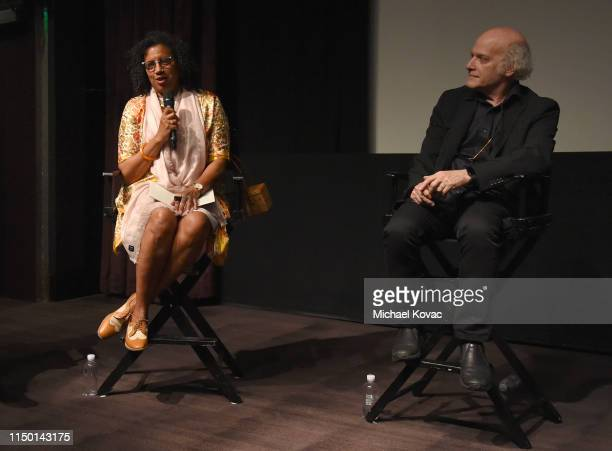 Gaye Theresa Johnson Robin Coste Lewis and director Timothy GreenfieldSanders participate in a panel discussion after the Los Angeles premiere of...