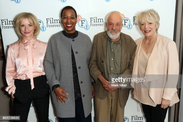 Gayene Gould Alison Steadman Jane Horrocks and Mike Leigh attend the 'Life Is Sweet' Bluray/ DVD launch and QA at BFI Southbank on September 28 2017...