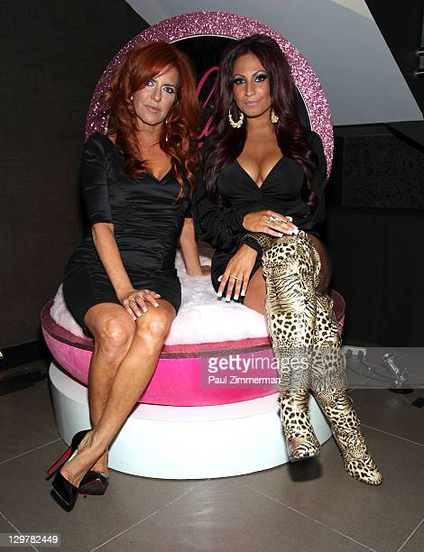 Gayle Giacomo and Tracy DiMarco attend the Glam Fairy premiere at the Gansevoort Park Avenue on October 20 2011 in New York City