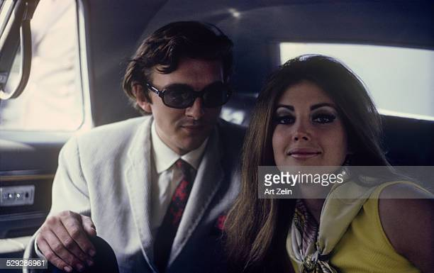 Gayle Hunnicutt with David Hemmings in a limousine circa 1970 New York