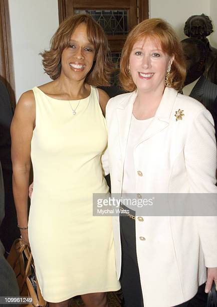 Gayle King and Ann Tisch during Announcement of the 10th Annual Harlem Renaissance Day of Commitment at Shepard Hall at City College in New York City...