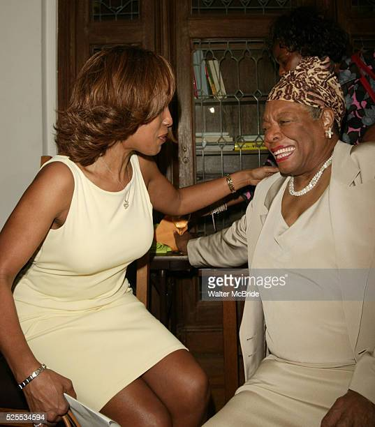 Gayle King and Dr Maya Angelou attending The Abyssinian Development Corporation's Tenth Annual Renaissance Day of Commitment Leadership Breakfast at...